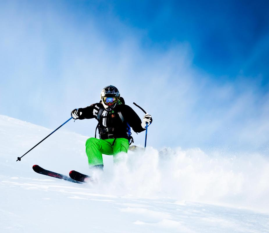 A skier needs sufficient experience before attempting a black diamond run.