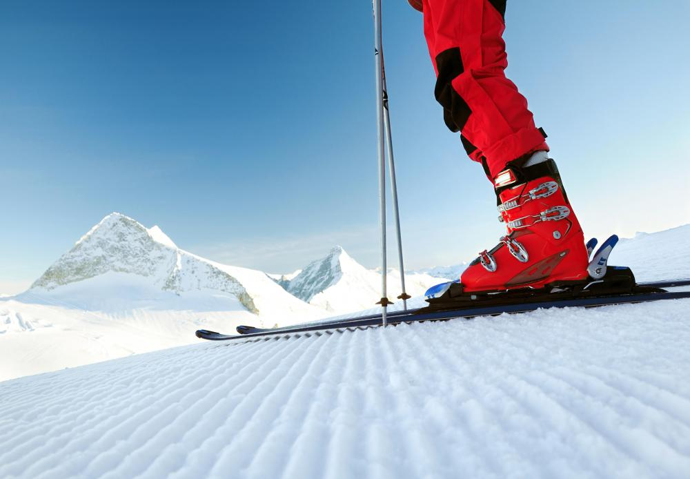 A more adventurous getaway weekend might include participating in activities such as skiing.