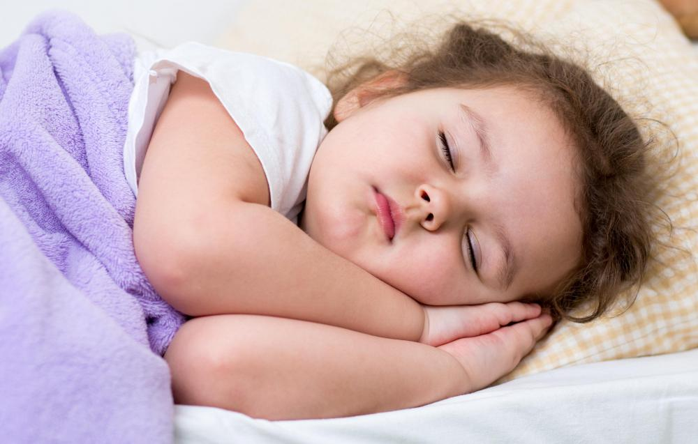 Some children express minor separaton anxiety when asked to sleep in a location away from home.