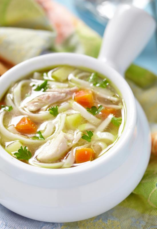A low-sodium diet may consist of homemade soups.