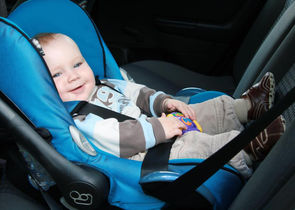 Babies under 20 pounds are required to be placed in rear-facing car seats in the back seats of vehicles.