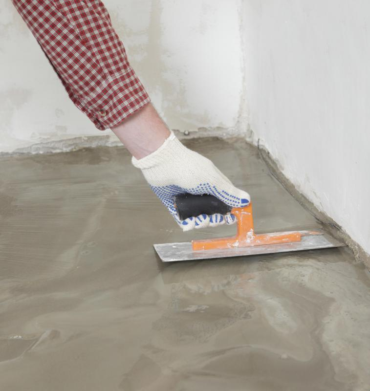 Paint is an effective way of upgrading a plain cement floor.