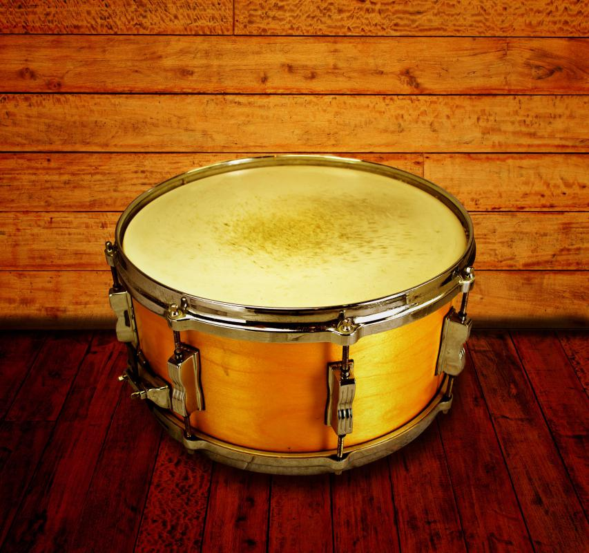 A high-tuned snare drum is a common part of reggae music.