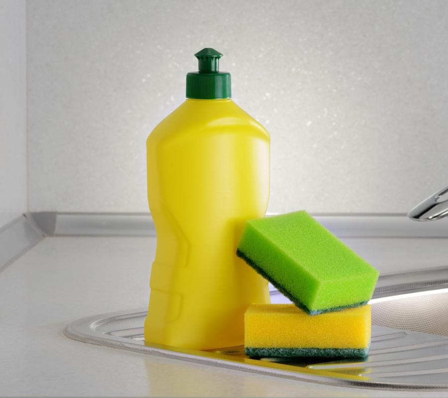 Homemade window cleaner can be made with dish soap.