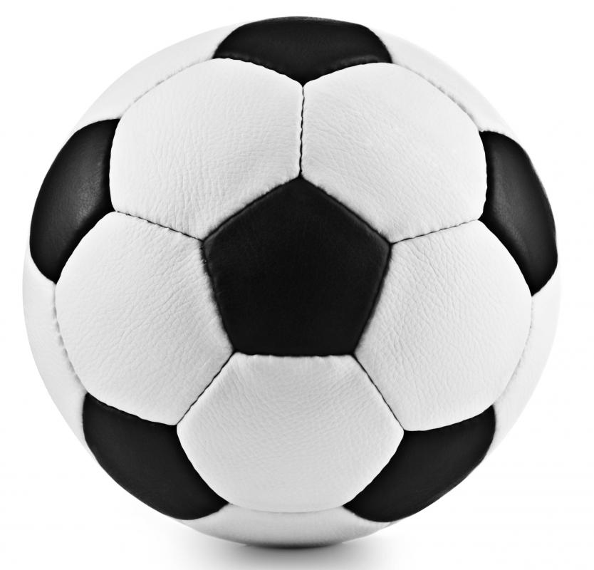 A traditional soccer ball.