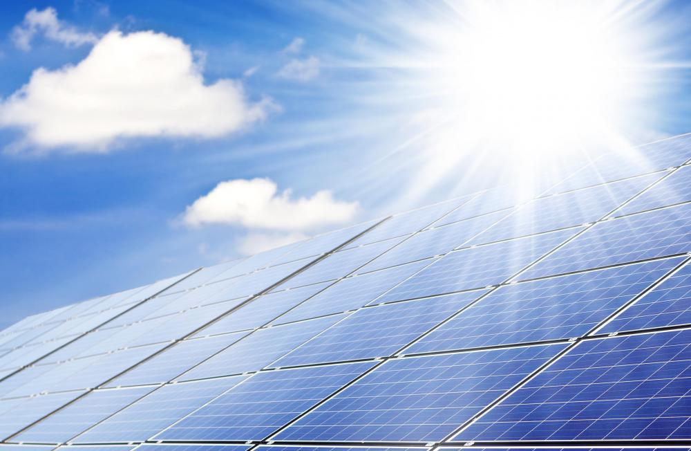 Photovoltaic cells turn sunlight into electrical energy.