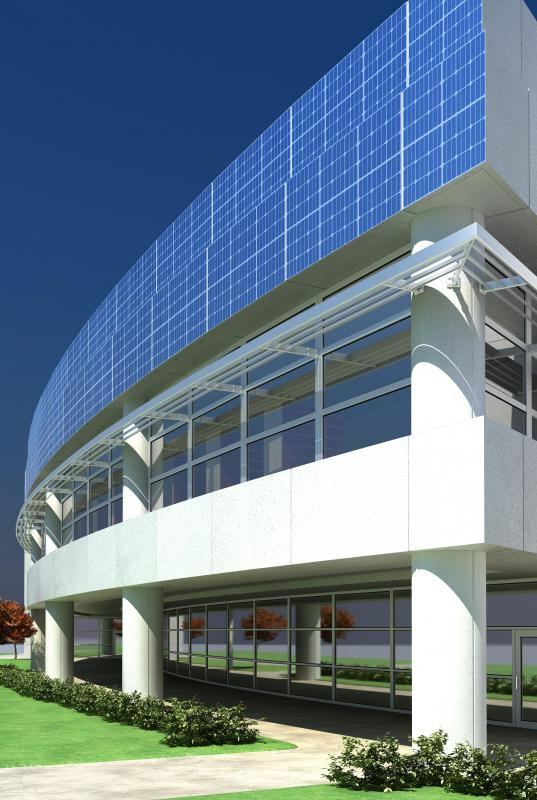 Many contemporary architects incorporate green elements like solar panels into their work.