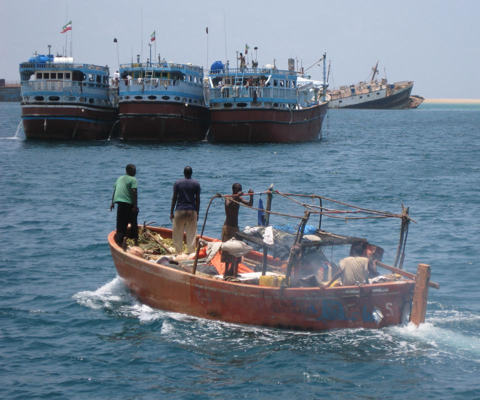 Most modern pirates, including those who operate off the Somali coast, use small motorboats to attack larger commercial vessels.