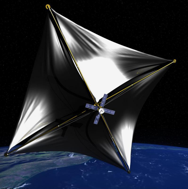 It has been theorized that a high-powered laser could be used to increase the speed by which a Von Neumann probe with solar sails could reach nearby stars.