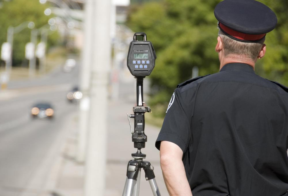Speeding tickets can be noted in a background check.
