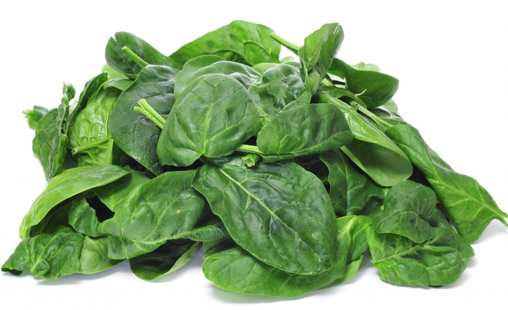 Biotin is found naturally in foods like spinach.