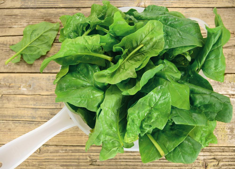 Spinach and other green leafy vegetables are high in magnesium, an electrolyte mineral that is needed by every organ in the body.