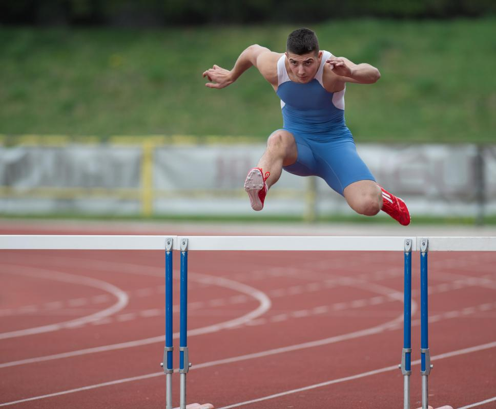 Hurdles are used in some running events in track and field.
