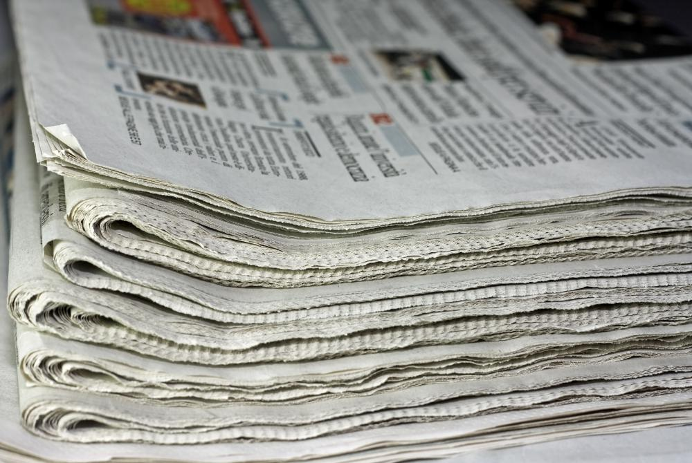 Recycled newspaper is often used to make new paper.
