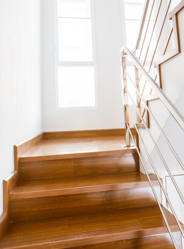 Skirting boards are used to enhance the appearance of a staircase.
