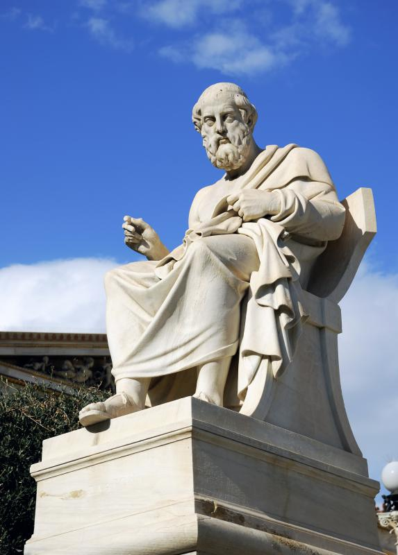 Plato's Republic is an example of ideology, laying out the Greek philosopher's ideal concepts.