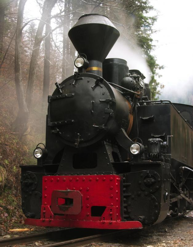 Steam engines are powered by the force of high-pressure steam.