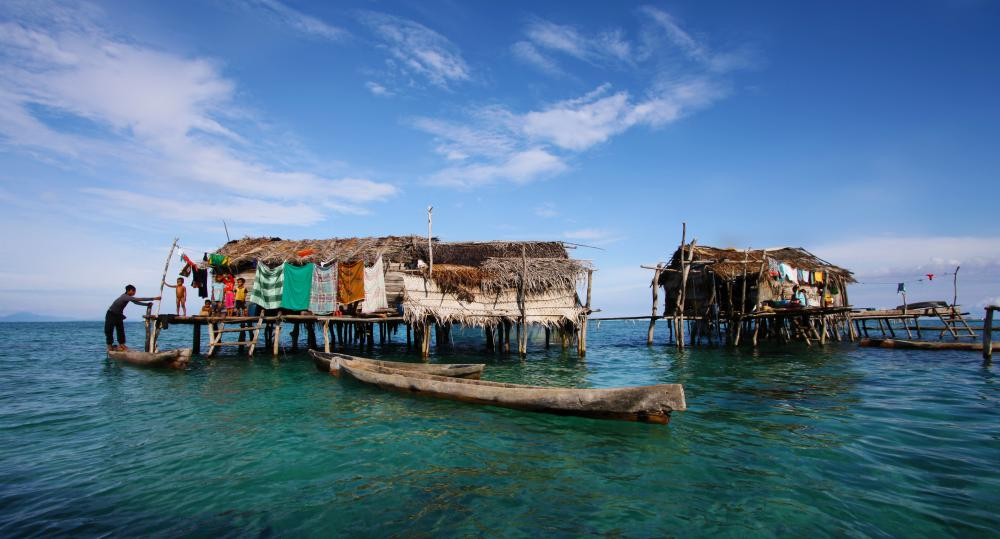 Stilt houses are popular throughout the world, sometimes built to be used for fishing.