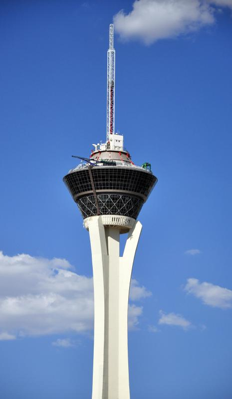 Some hotels, like the Stratosphere Casino, Hotel & Tower in Las Vegas, Nevada, offer gambling and other forms of entertainment.