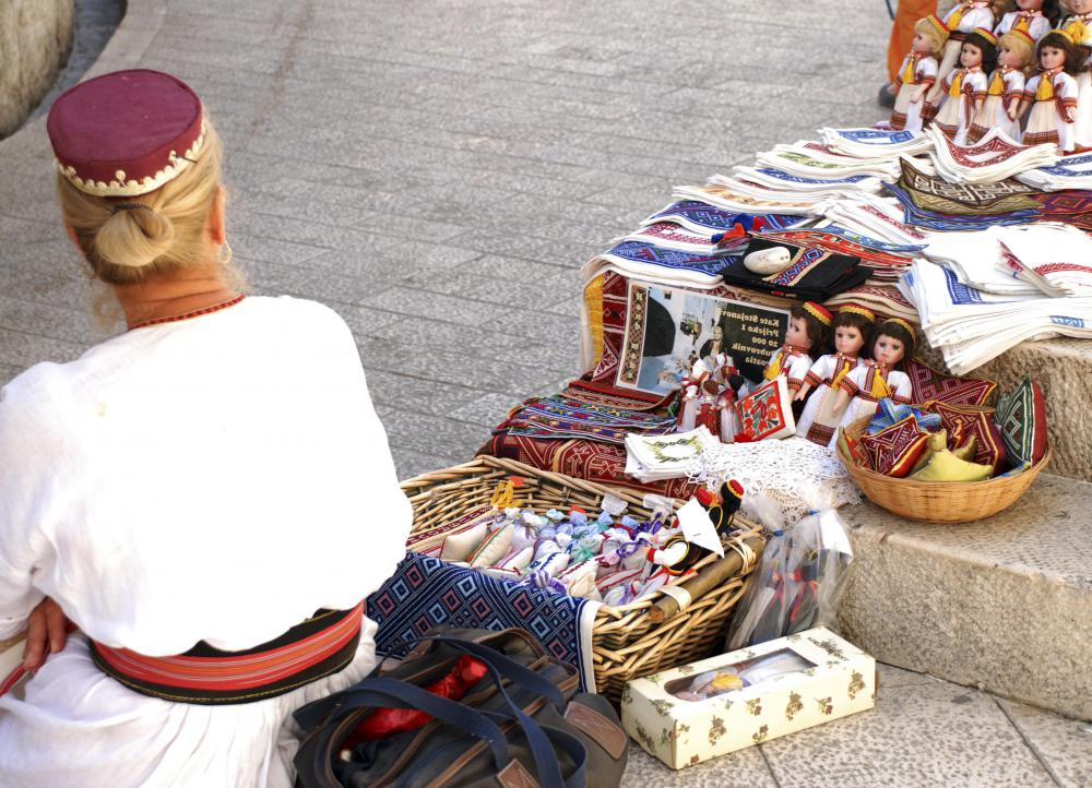 Some Romani may work as peddlers selling goods.