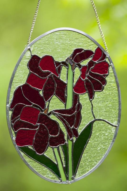 Art nouveau flowers are typically very stylized.