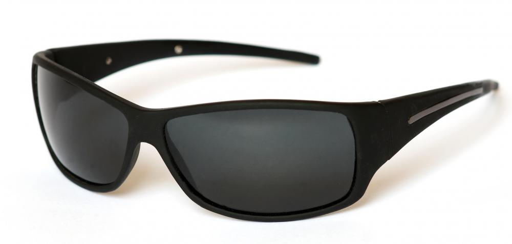 Sunglasses made with polycarbonate.