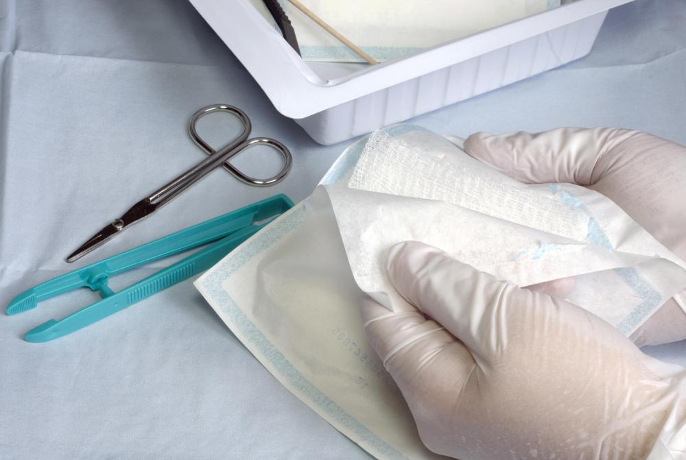 Gauze fabric pads may be pre-cut and individually wrapped to ensure the dressings remain sterile.