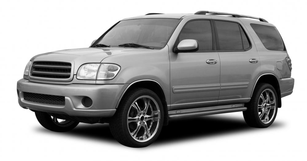 SUV (sport utility vehicle) with tinted windows.