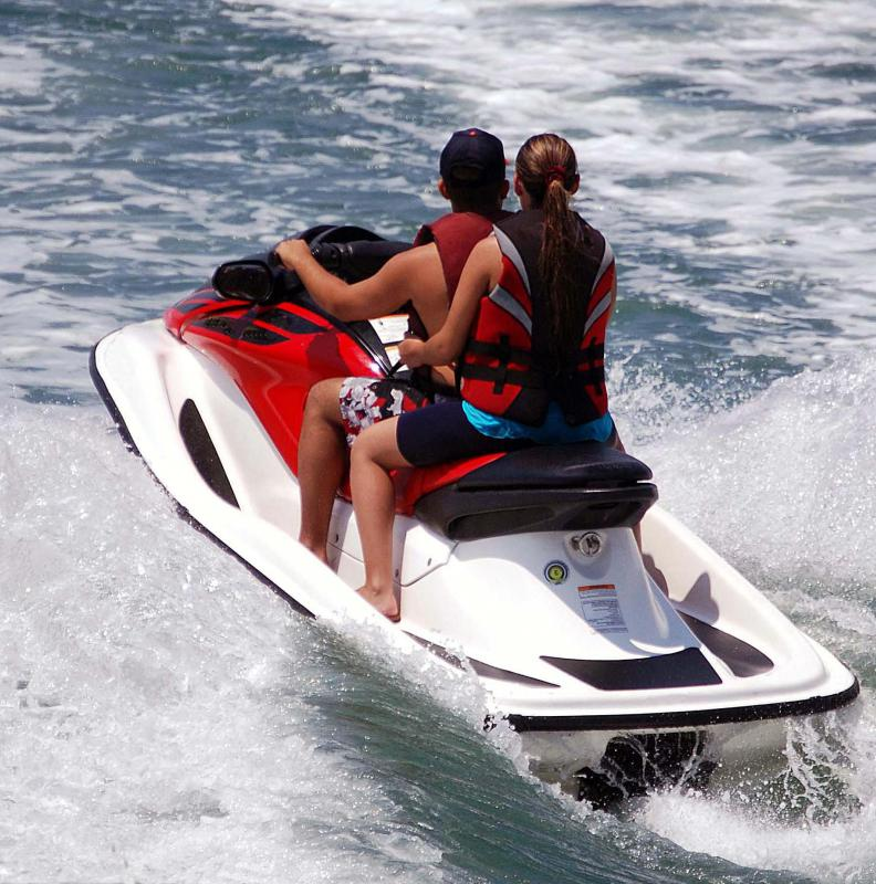A speed charger is often used to charge jet ski batteries.