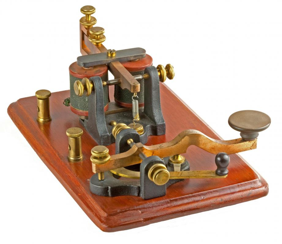 The telegraph, a telecommunications device, was invented during the 19th century.