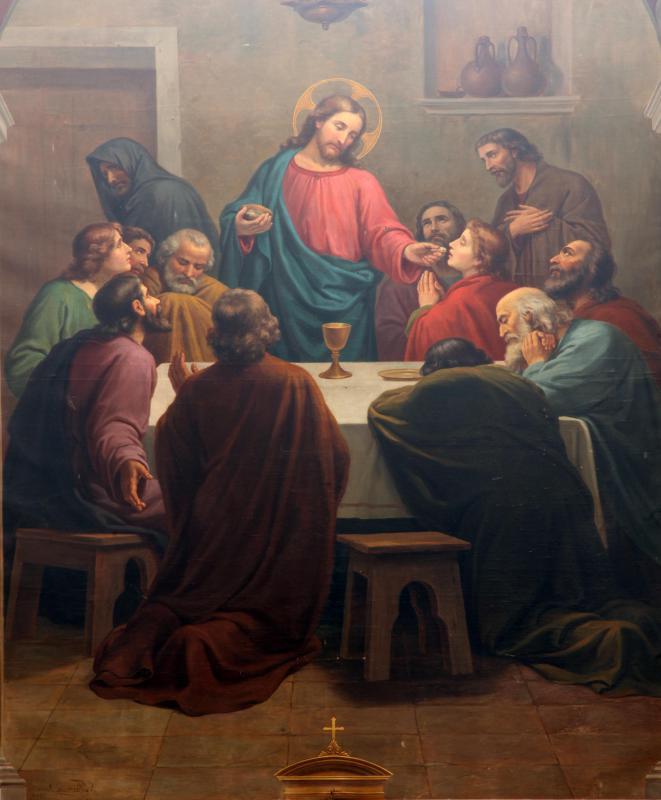 The Lord's Supper, when Jesus gathered his disciples together to celebrate Passover.