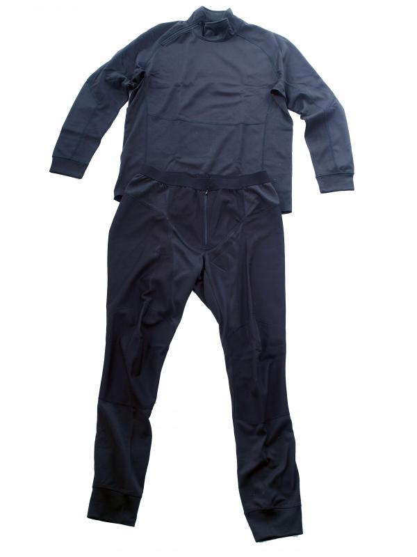 Thermal underwear is meant to be worn underneath the outer clothing on cold days.