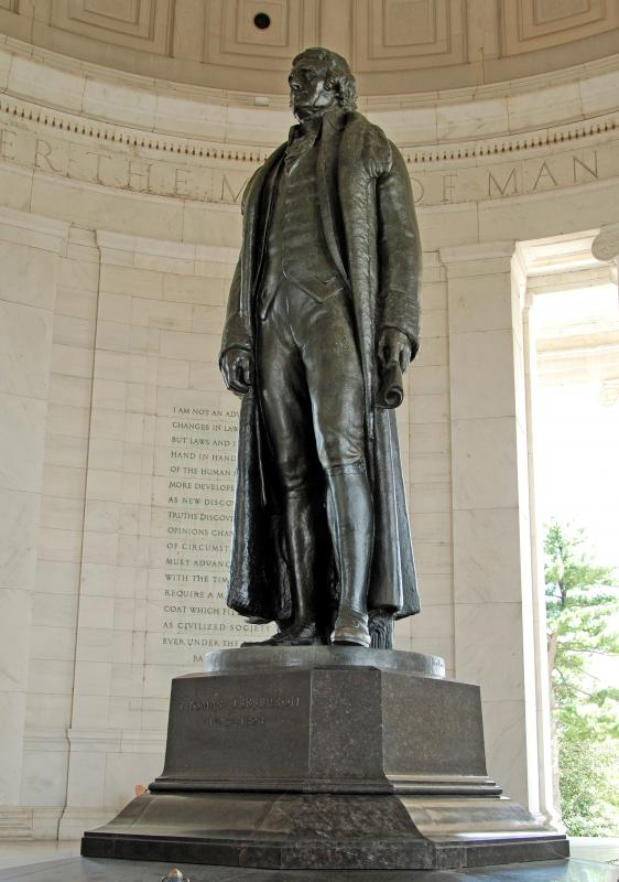 Thomas Jefferson sculpture inside Jefferson Memorial.