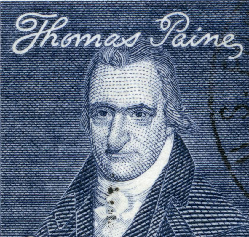 "Revolutionary wars are sometimes spurred on by authors such as America's Thomas Paine, who wrote ""Common Sense""."
