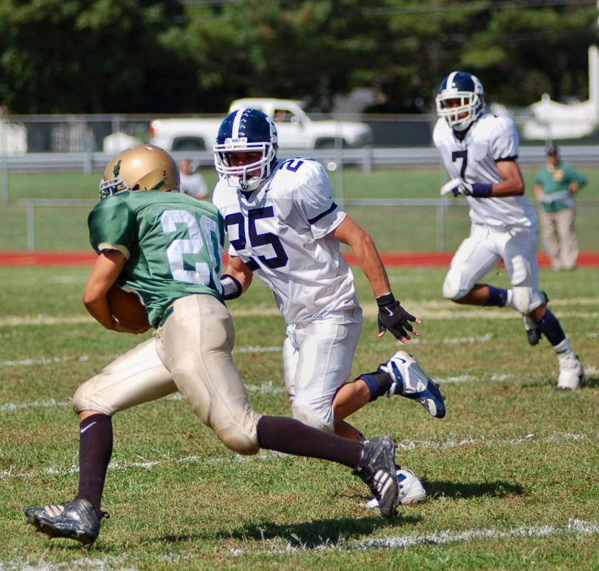 A team can try for two points after scoring a touchdown by passing or running the ball into the end zone in just one play.