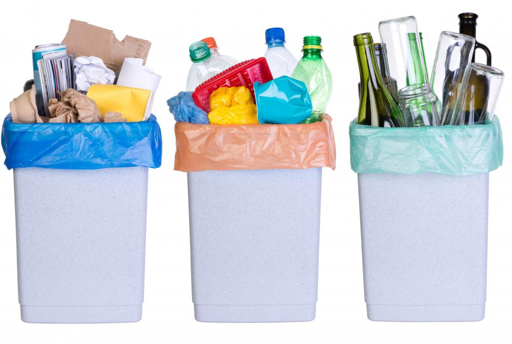 Recycled plastics can be turned into many items such as motor oil and detergent bottles and pipes and pails.