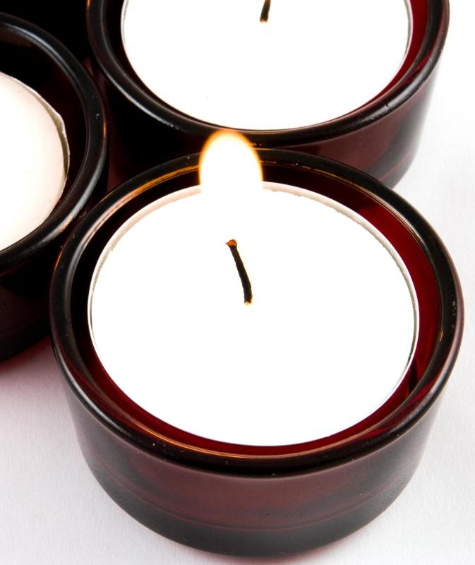 Prayer may be conducted with the use of votive candles.