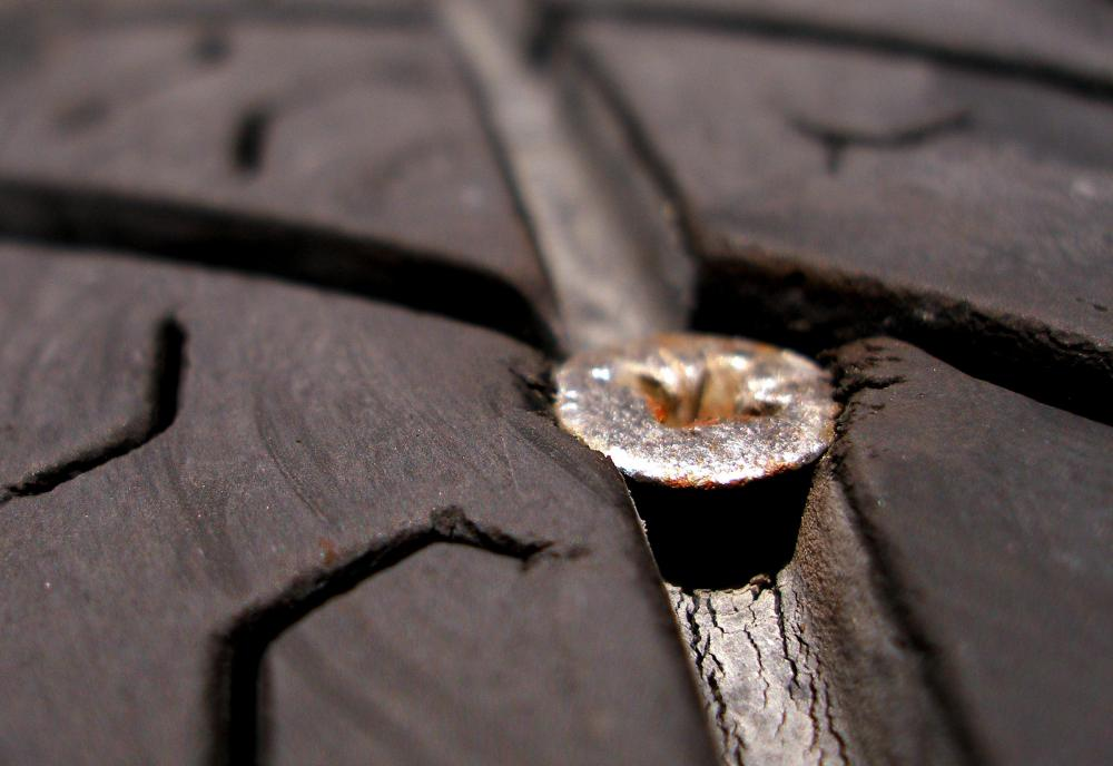 Tires should be checked on a regular basis for puncture damage.