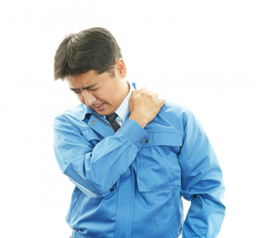 Shoulder pain may be a sign of a rotator cuff strain.