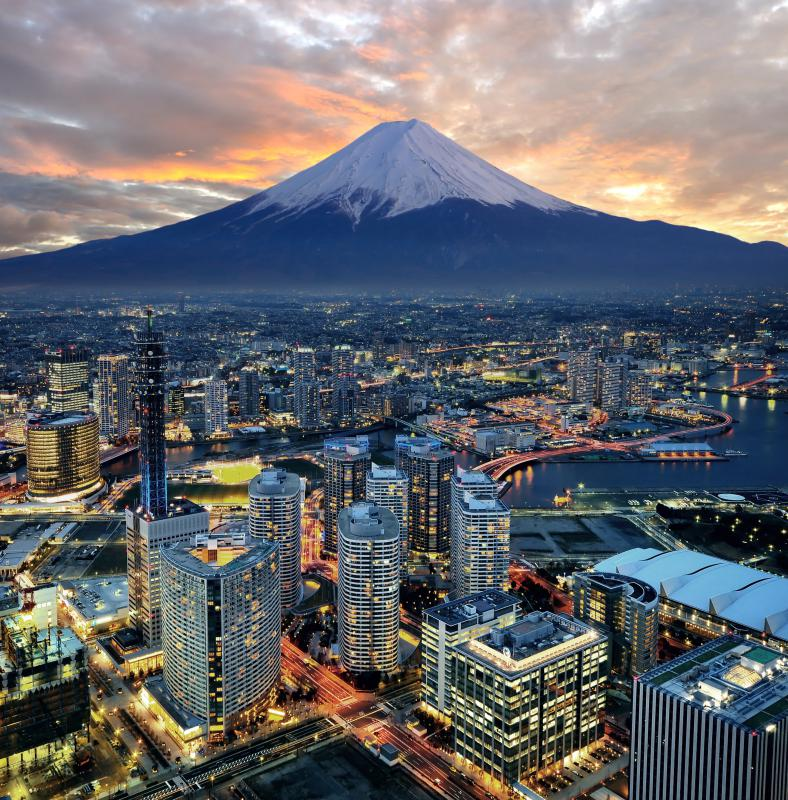Mount Fuji is one of the world's tallest mountains.