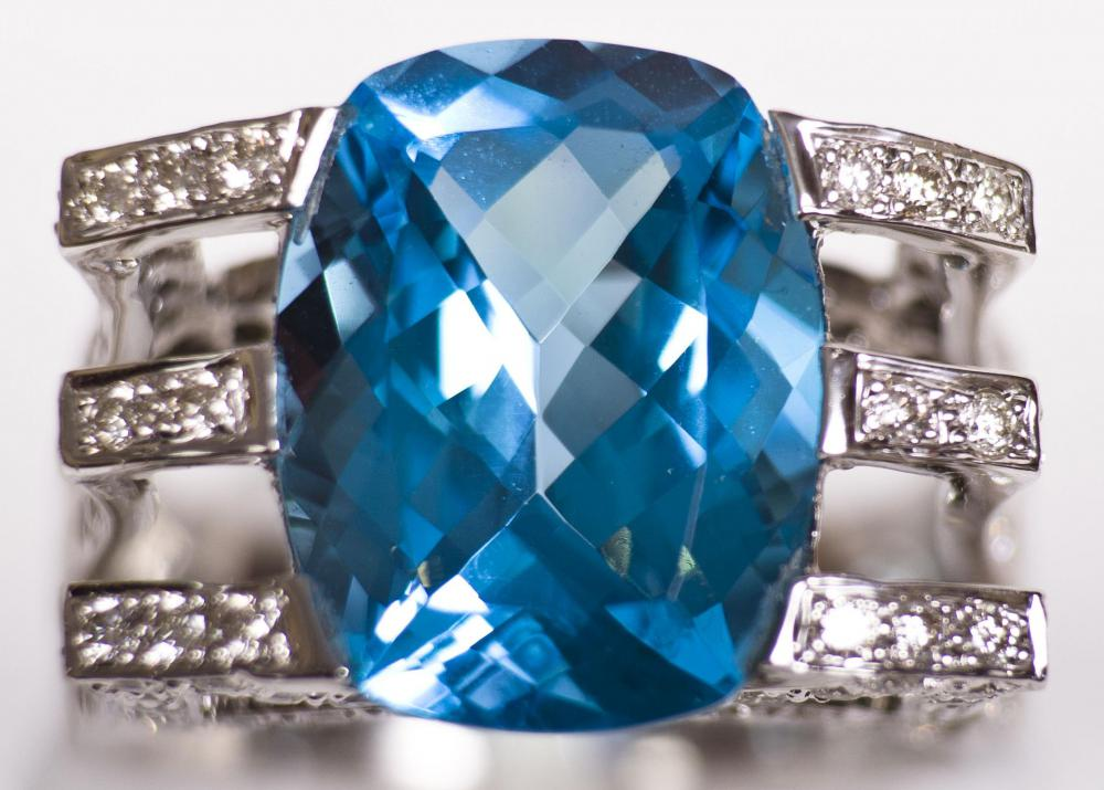 Topaz can be turned deep blue by irradiating the gemstone.