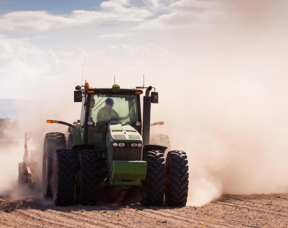Insurance might cover equipment used as part of a commercial farm.