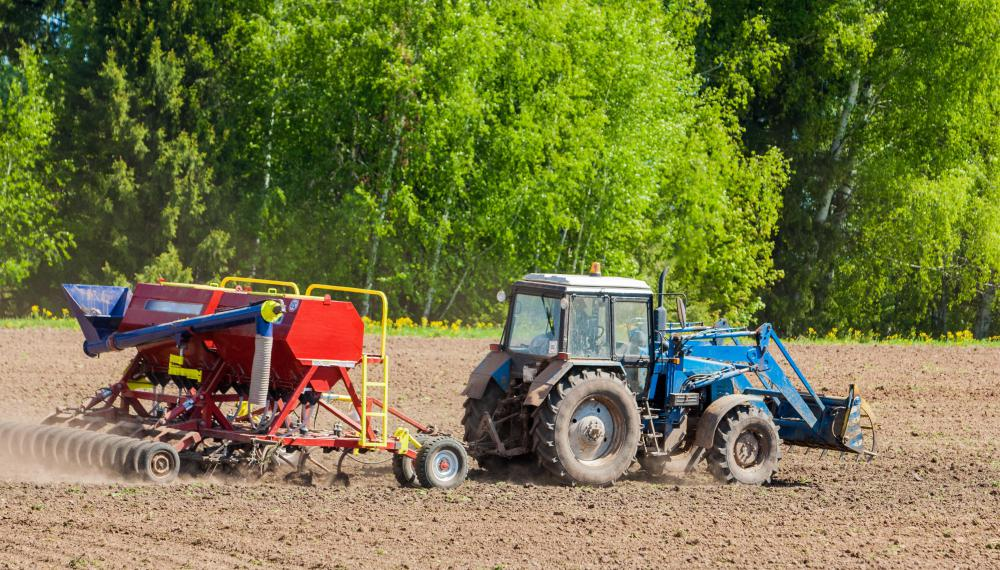 Tractors can be used to pull a variety of farm equipment and attachments.