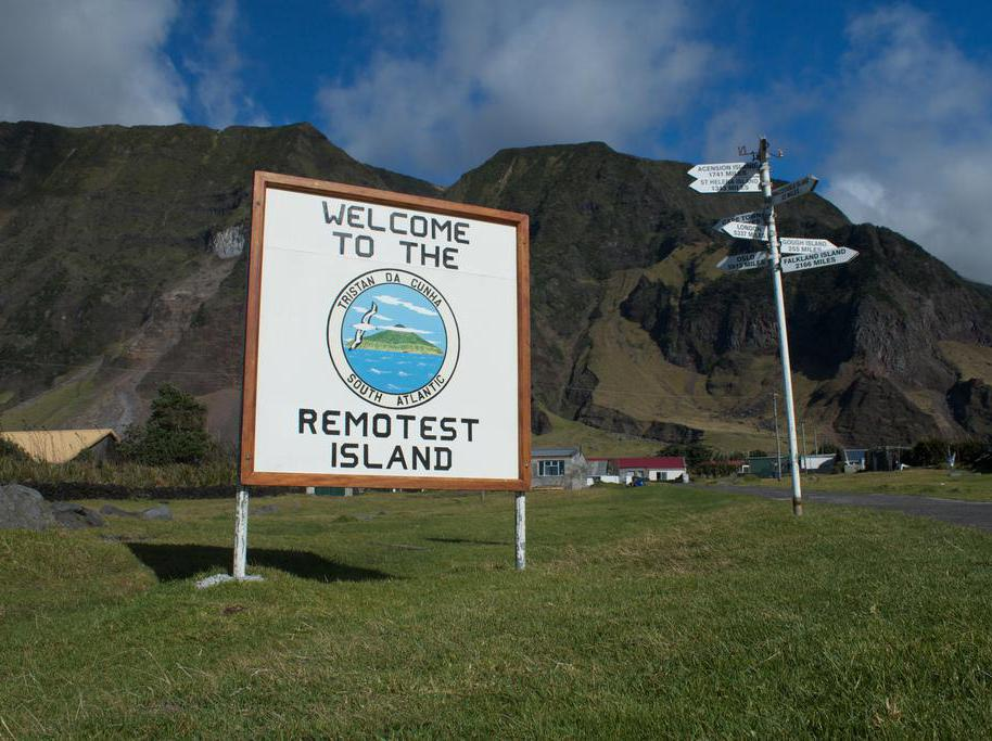 Tristan da Cunha is the most remote inhabited island on the planet.