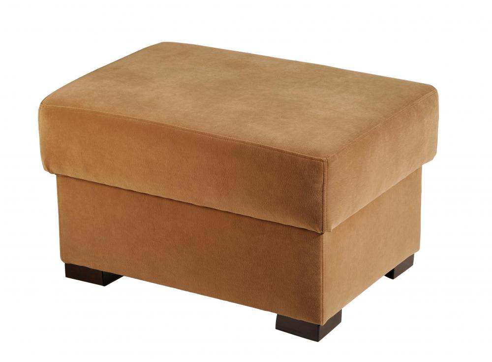 Ottomans are large, padded stools covered in fabric, designed to relieve one's feet of pressure.