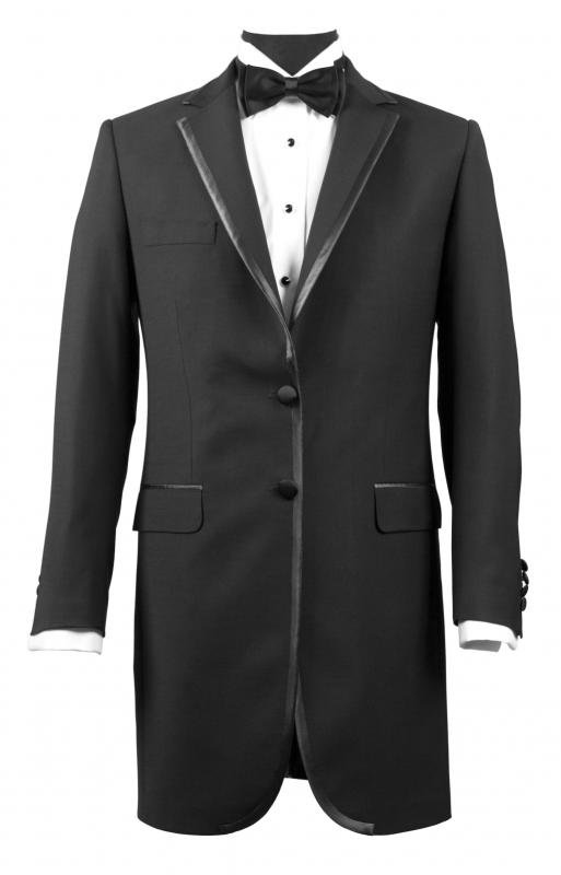 A tuxedo, which should always be taken to a dry cleaner.
