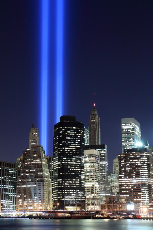 The September 11, 2001 terrorist attacks brought down the World Trade Center buildings in New York City.