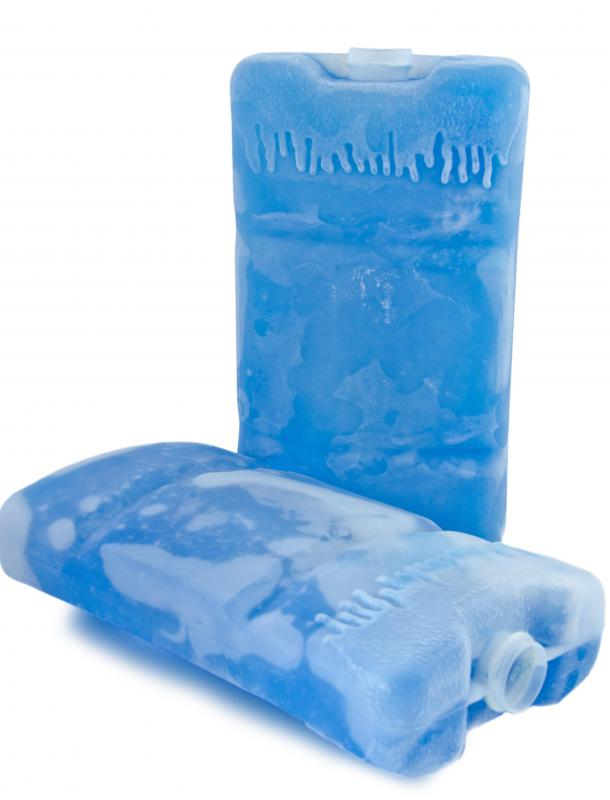 Muscle soreness from too much exercise can be relieved through the use of an ice pack.