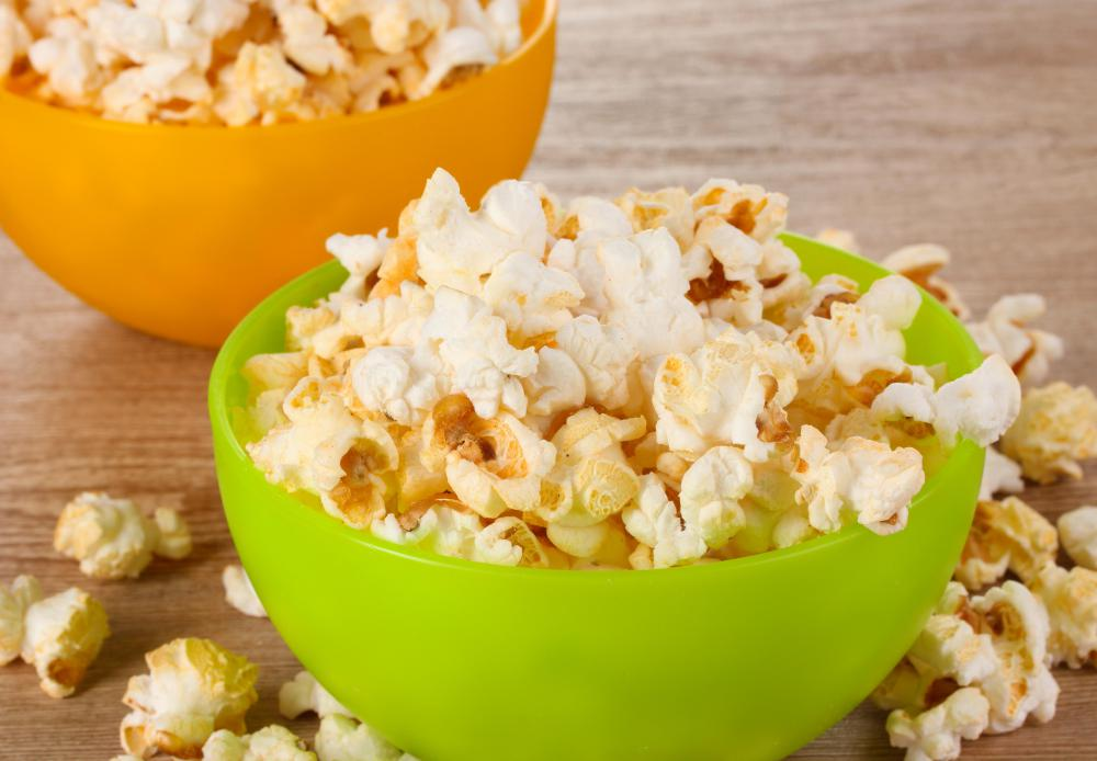 Popcorn that is saturated in butter and salt is unhealthy.