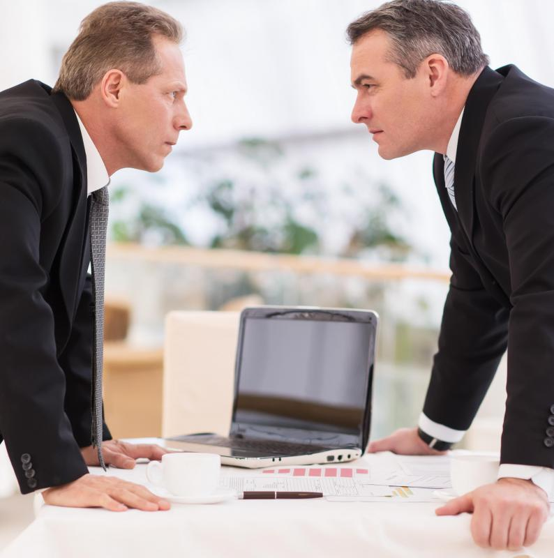 Workplace hostilities may consist of verbal abuse and anger.